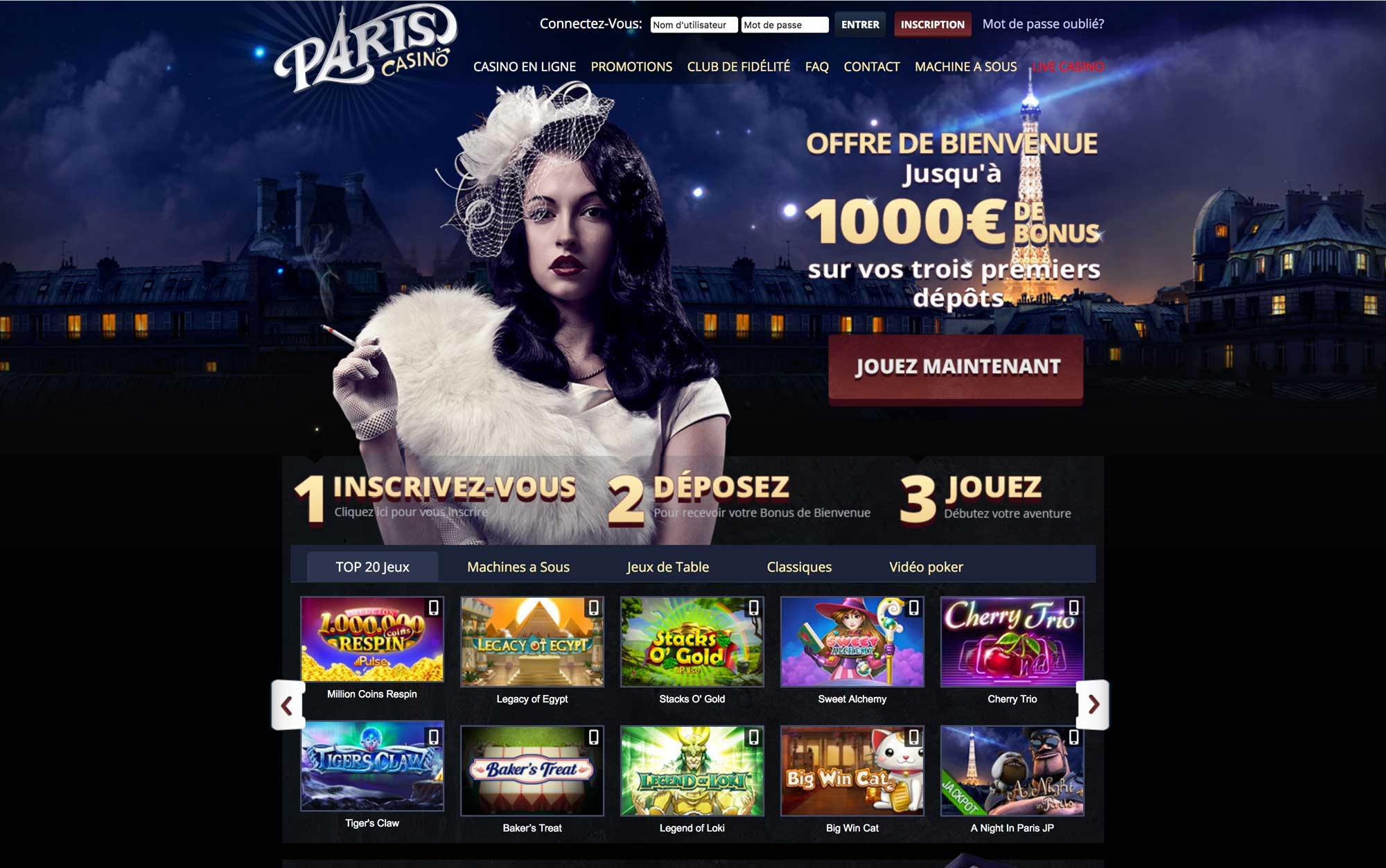 paris casino officiel